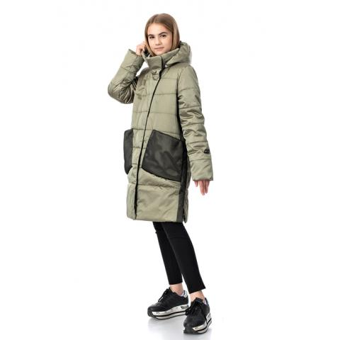 ALPEX новая коллекция пальто ПД 1115 хаки.