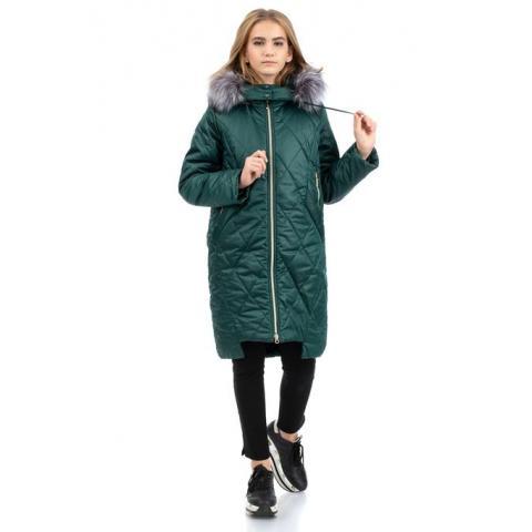 ALPEX новая коллекция пальто ПД 1135 зел.